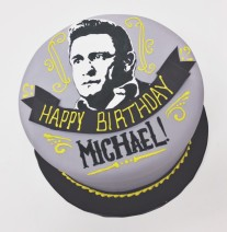 Johnny Cash Birthday Cake