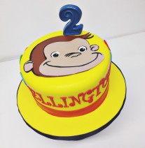 Curious George Birthday Cake