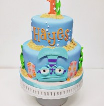 Pout Pout Fish Birthday Cake