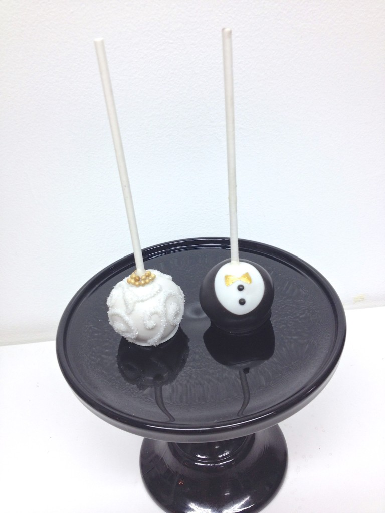 Bride and Groom Cake Pop