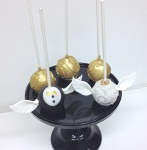 Harry Potter Snitch Inspired Wedding Cake Pops
