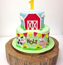 Farm Barnyard Birthday Cake