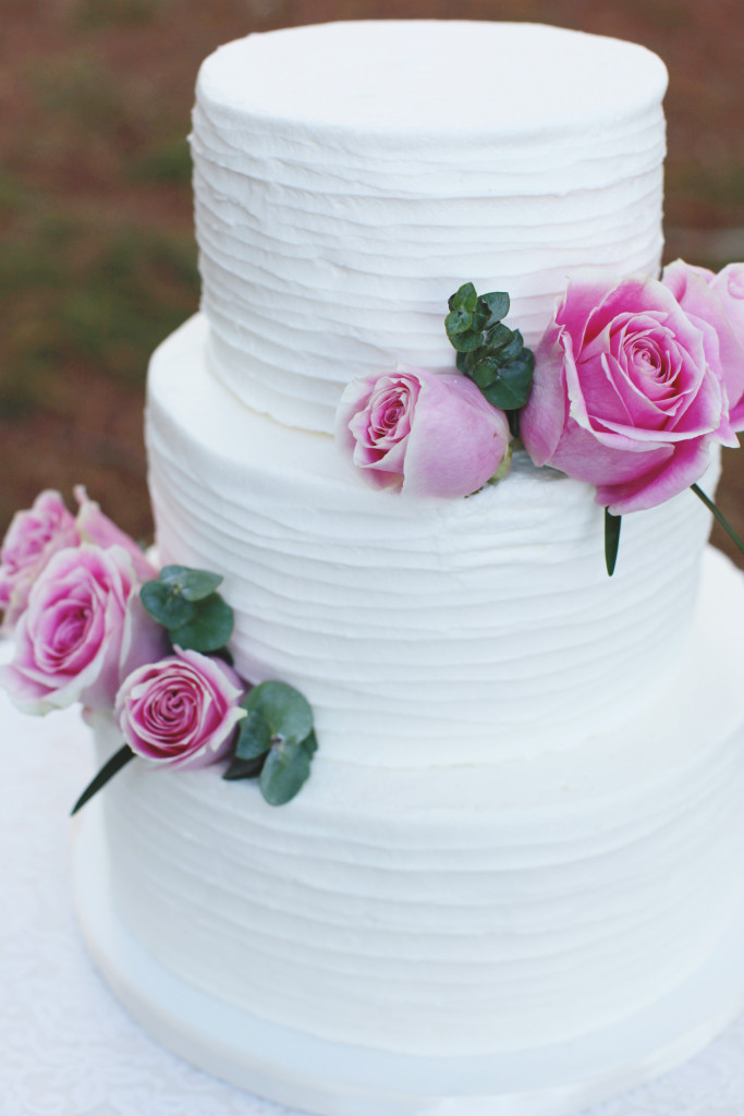 Textured Buttercream Wedding Cake