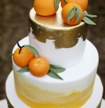 Citrus Watercolor Cake