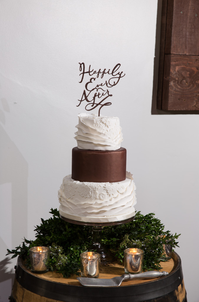 Lace and Ruffles Wedding Cake
