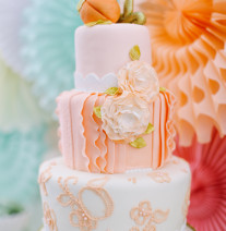 Peach Birthday Cake