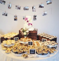 Wedding Cake and Pie Table