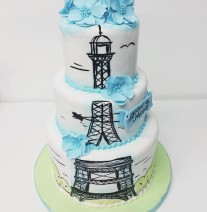 Eiffel Tower Paris Cake