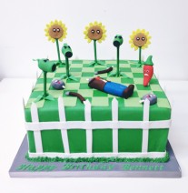 Zombies vs Plants Cake