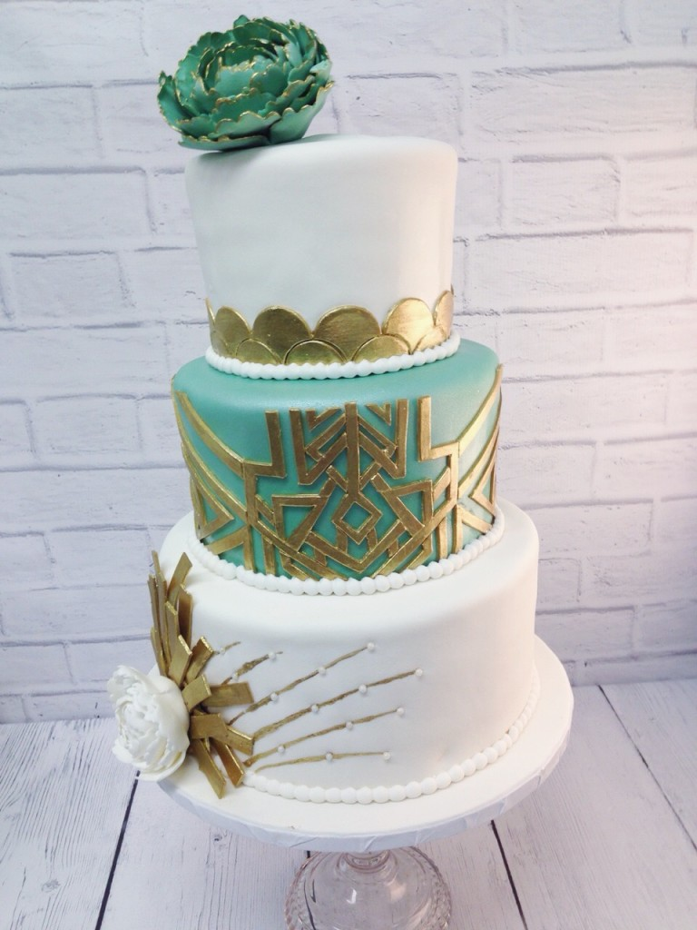 Gatsby Art Deco Wedding Cake