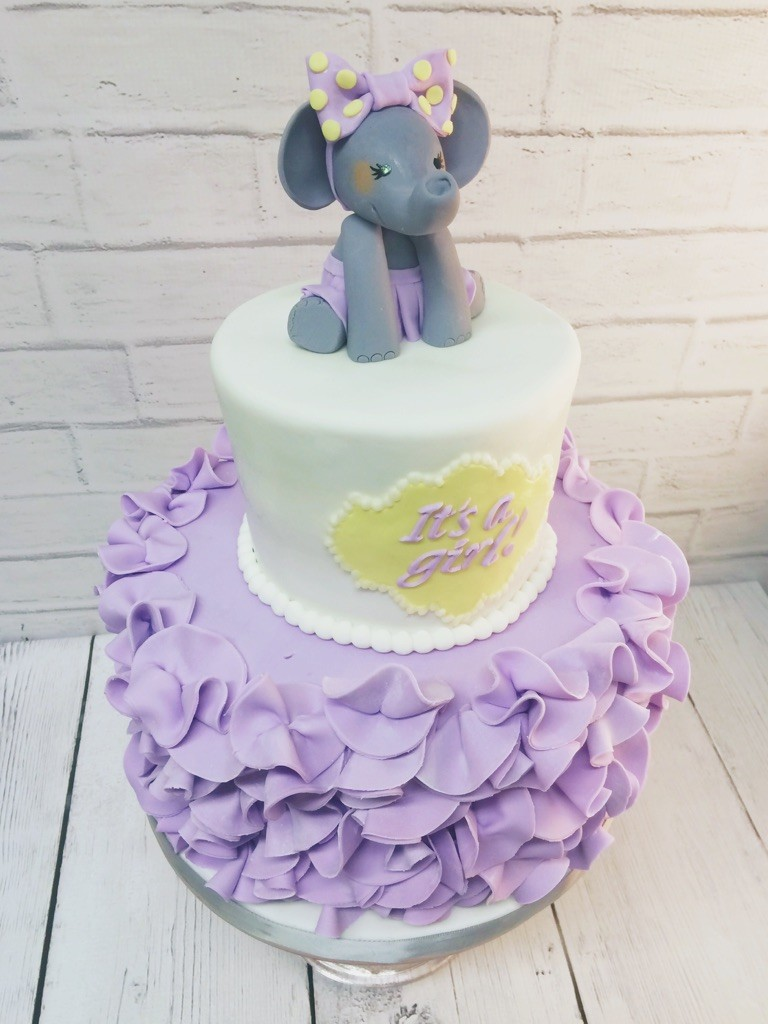 Ruffled Purple Elephant Cake