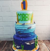 Surf and Sharks Cake