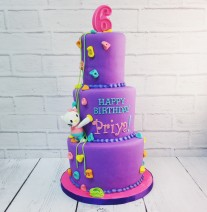 Hello Kitty Rock Climbing Cake