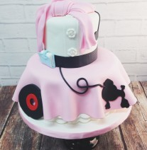 50s Theme Poodle Skirt Cake