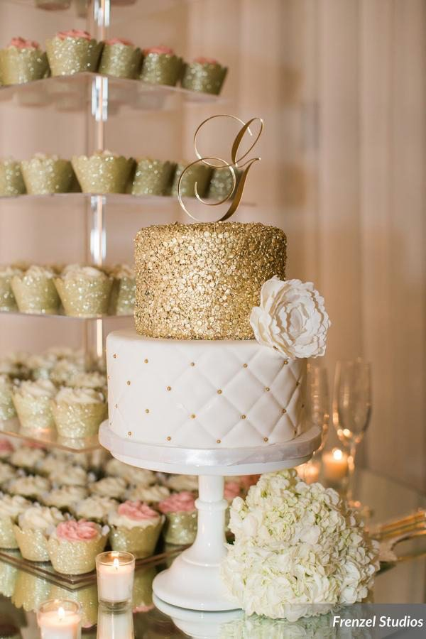 Nashville Sweets | Gold Sequin & White Quilted Wedding Cake : quilted wedding cake - Adamdwight.com