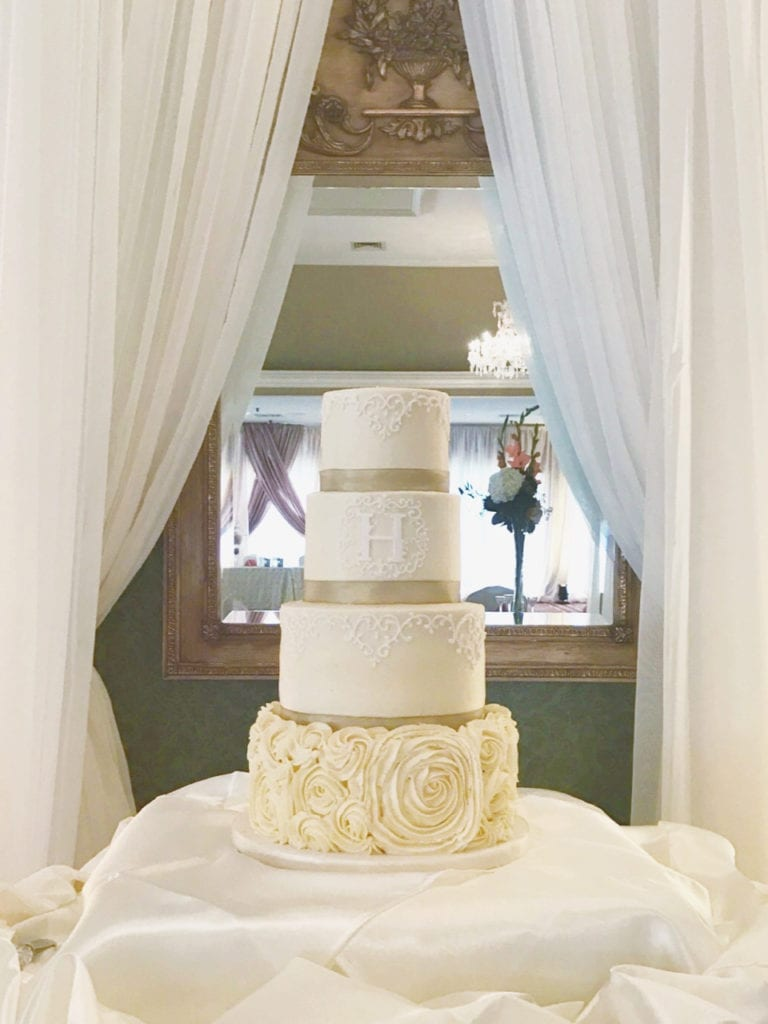 Nashville Sweets | Buttercream Wedding Cake with Large Rosettes