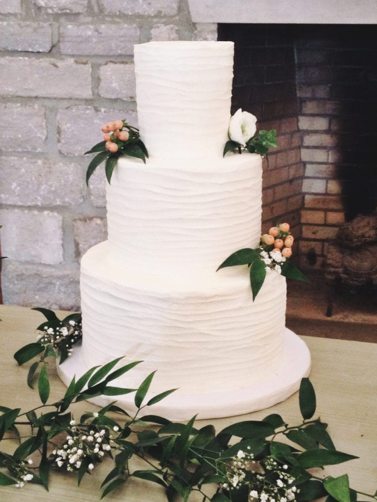 Line Texture Cake : Nashville sweets textured buttercream lines wedding cake
