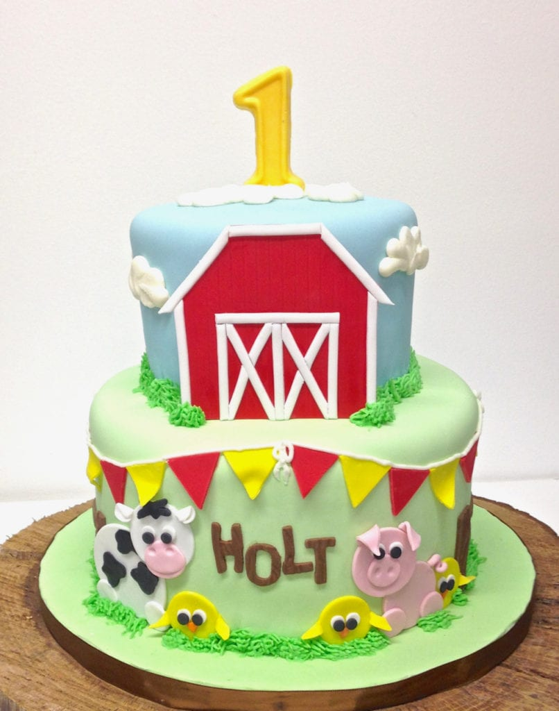 Nashville Sweets Barn Farm Animal Birthday Cake