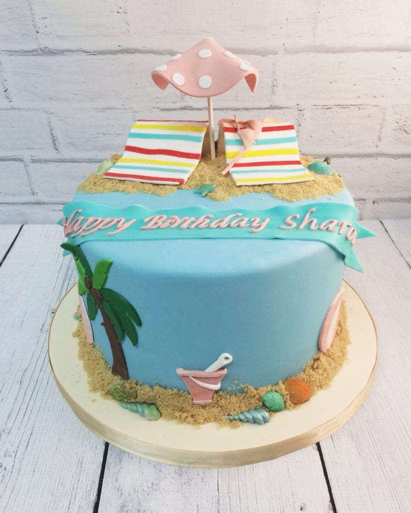 Nashville Sweets Beach Birthday Cake