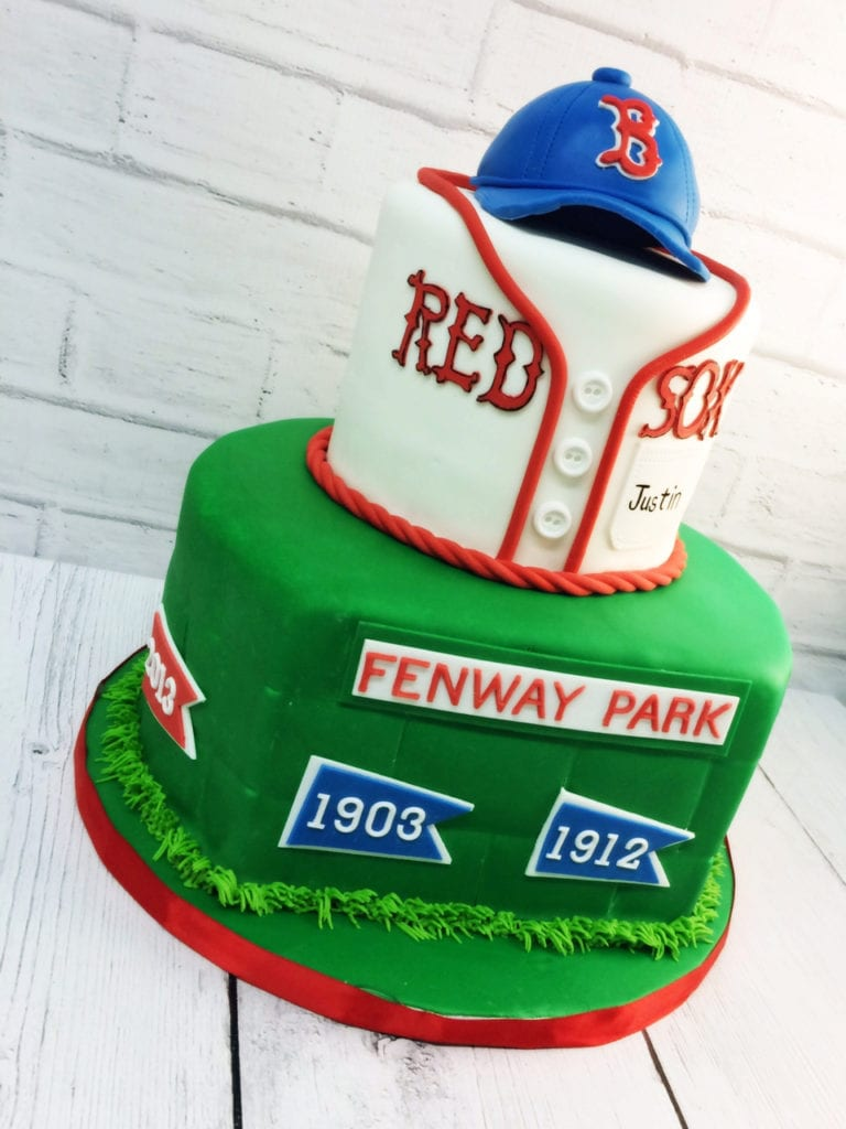 Boston Red Sox Baseball Cake