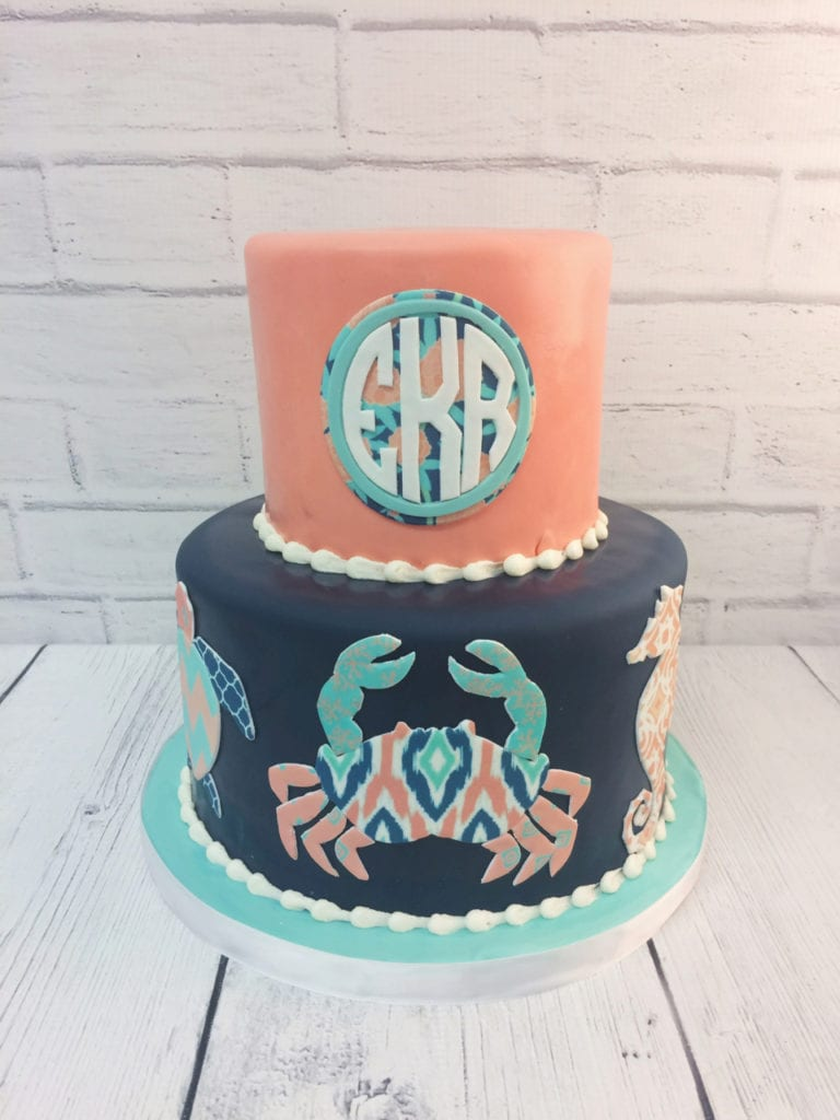 Prime Nashville Sweets Simply Southern Inspired Monogrammed Cake Funny Birthday Cards Online Aboleapandamsfinfo