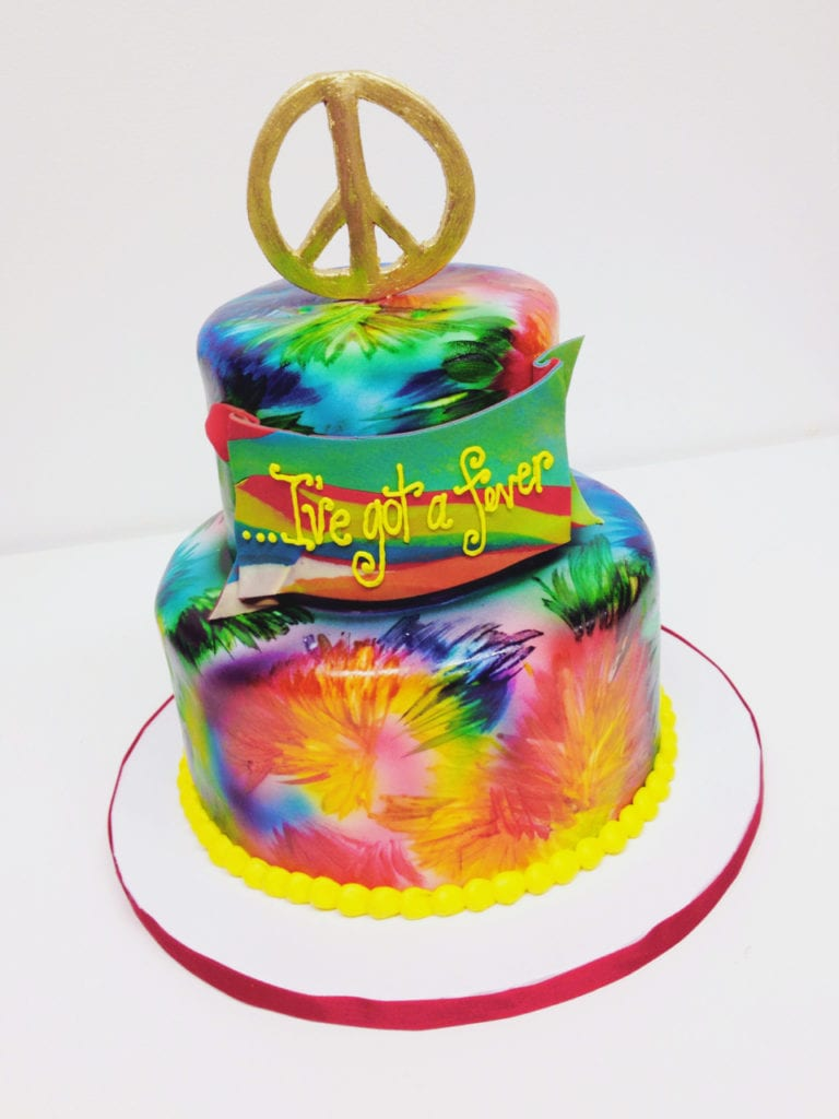 Brilliant Nashville Sweets Tie Dye Cake Personalised Birthday Cards Paralily Jamesorg