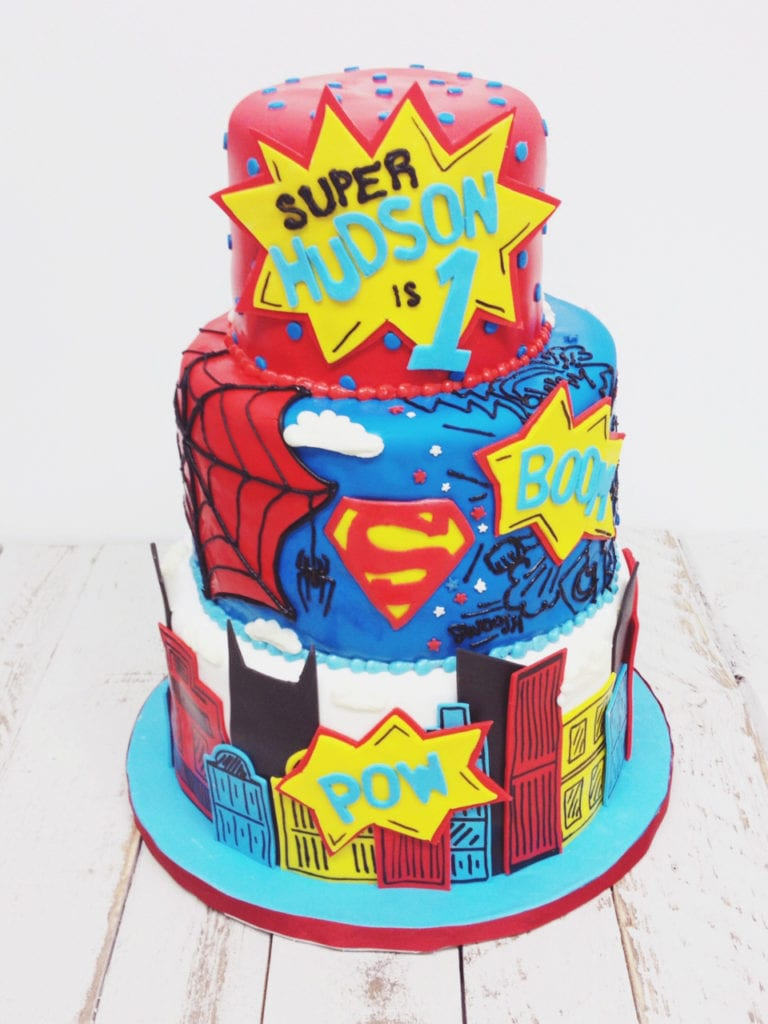 Pleasant Nashville Sweets Superhero Birthday Cake Personalised Birthday Cards Rectzonderlifede