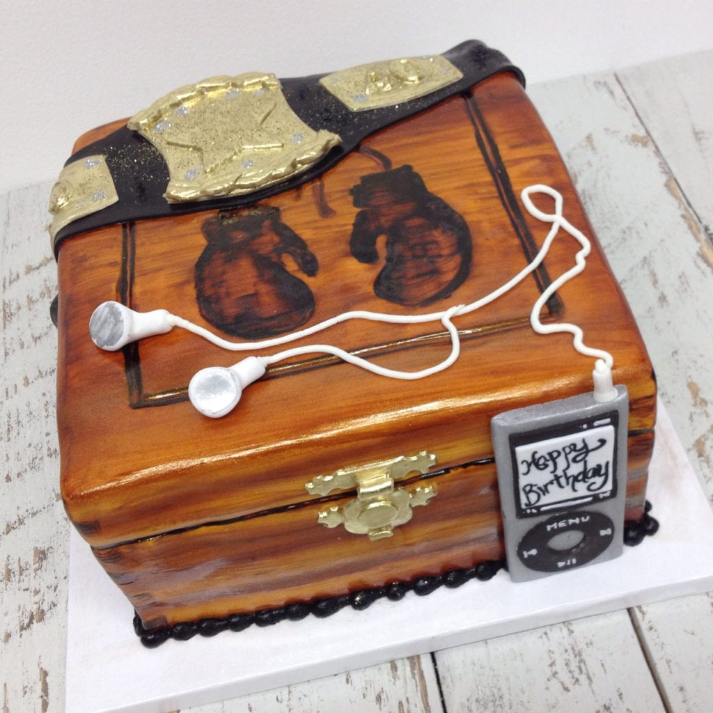 Admirable Nashville Sweets Cigar Box Boxing Theme Birthday Cake Funny Birthday Cards Online Hendilapandamsfinfo