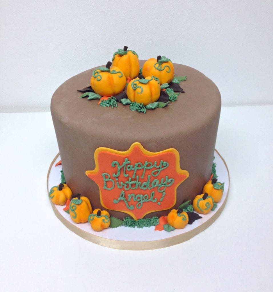 Incredible Nashville Sweets Fall Pumpkins Birthday Cake Personalised Birthday Cards Beptaeletsinfo