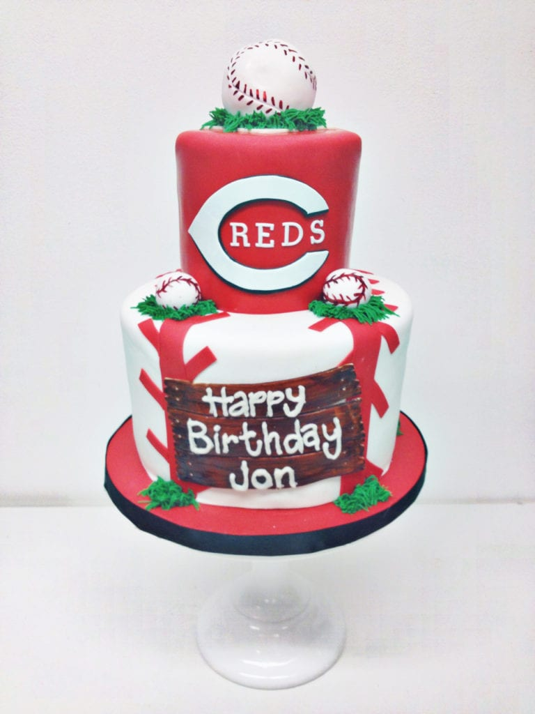 Groovy Nashville Sweets Reds Baseball Birthday Cake Funny Birthday Cards Online Fluifree Goldxyz