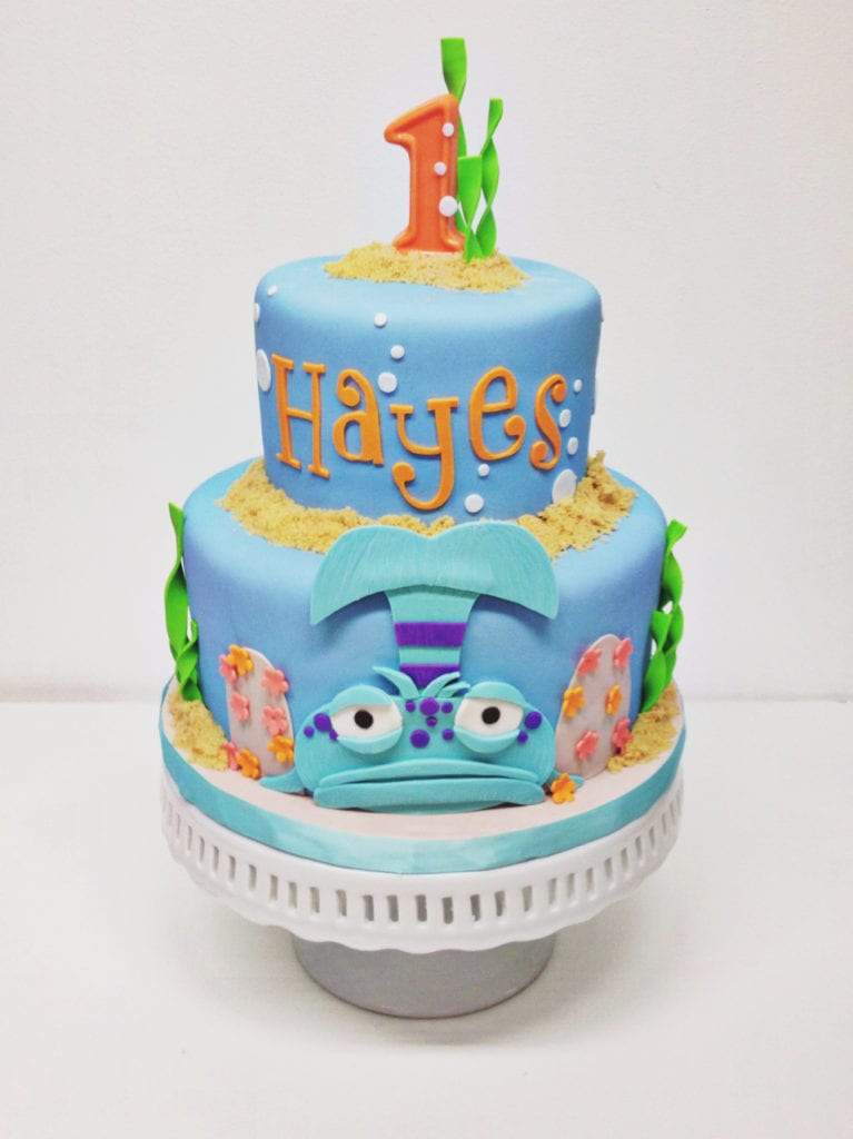 Remarkable Nashville Sweets Pout Pout Fish Birthday Cake Funny Birthday Cards Online Chimdamsfinfo
