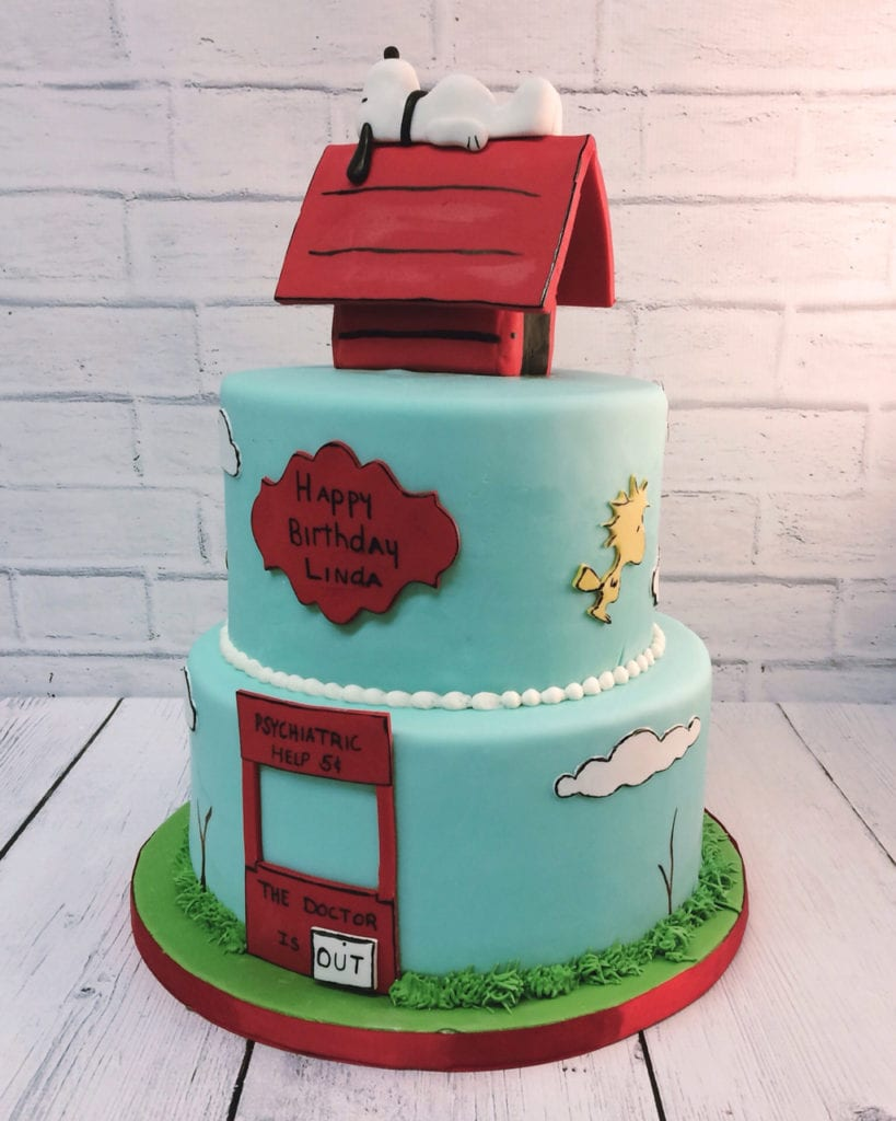 Amazing Nashville Sweets Charlie Brown Snoopy Cake Personalised Birthday Cards Paralily Jamesorg