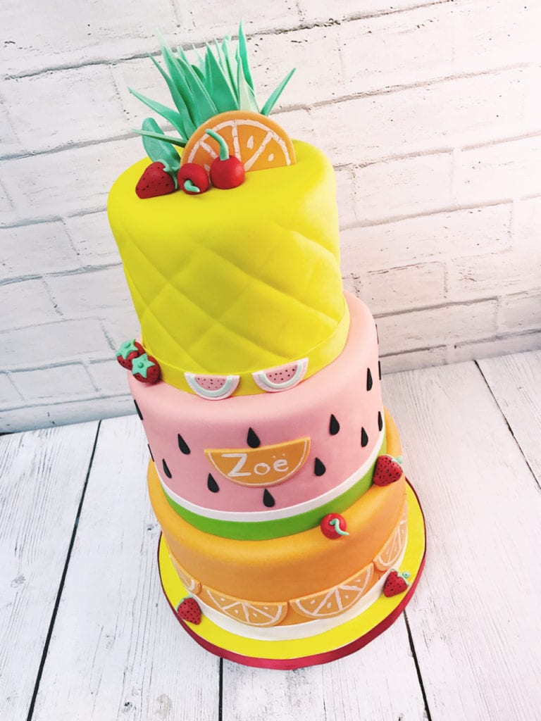 Fantastic Nashville Sweets Pineapple Watermelon Orange Fruit Birthday Cake Funny Birthday Cards Online Inifofree Goldxyz