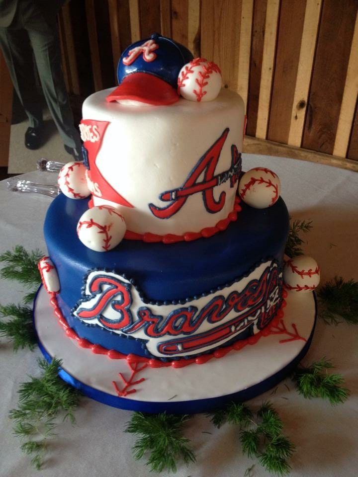 Atlanta Braves Baseball Grooms Cake