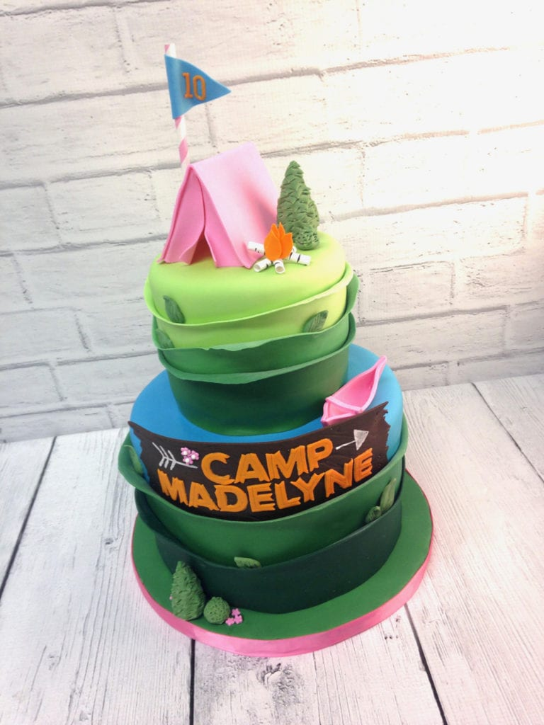Swell Nashville Sweets Camping Birthday Cake Personalised Birthday Cards Cominlily Jamesorg